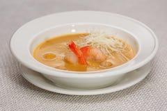 σούπα γαρίδων παχιά Στοκ εικόνα με δικαίωμα ελεύθερης χρήσης