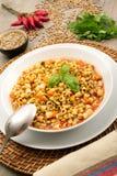 Σούπα ζυμαρικών και φακών Στοκ εικόνα με δικαίωμα ελεύθερης χρήσης