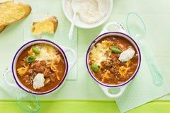 Σούπα ζυμαρικών Lasagne στοκ φωτογραφία με δικαίωμα ελεύθερης χρήσης