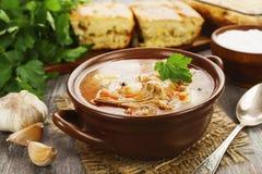 Σούπα και πίτα λάχανων Στοκ Φωτογραφίες