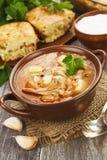Σούπα και πίτα λάχανων Στοκ εικόνες με δικαίωμα ελεύθερης χρήσης