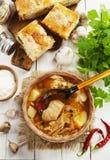Σούπα και πίτα λάχανων Στοκ φωτογραφία με δικαίωμα ελεύθερης χρήσης