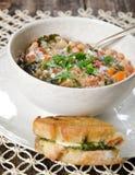 Σούπα και σάντουιτς Στοκ Εικόνες