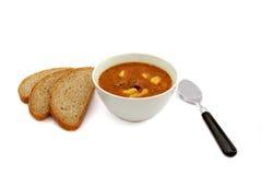 Σούπα και ψωμί Στοκ Φωτογραφίες