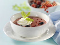 Σούπα καρπού με την κρέμα Στοκ Φωτογραφία