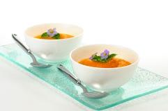 σούπα καρότων στοκ εικόνες