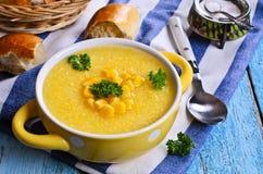 Σούπα καλαμποκιού στοκ εικόνες