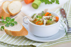 σούπα κοτόπουλου Στοκ εικόνα με δικαίωμα ελεύθερης χρήσης