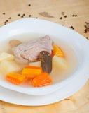 Σούπα κοτόπουλου με τα λαχανικά Στοκ εικόνα με δικαίωμα ελεύθερης χρήσης