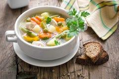 Σούπα κοτόπουλου με τα λαχανικά Στοκ Εικόνες