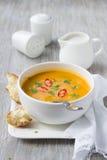 Σούπα κολοκύθας με το γάλα καρύδων Στοκ φωτογραφία με δικαίωμα ελεύθερης χρήσης