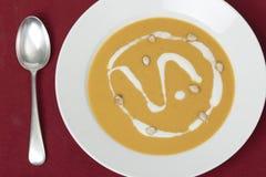 Σούπα κολοκύνθης άνωθεν Στοκ εικόνες με δικαίωμα ελεύθερης χρήσης