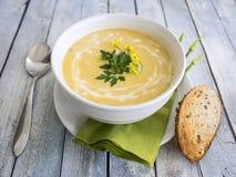 Σούπα κολοκύνθης Butternut Στοκ εικόνα με δικαίωμα ελεύθερης χρήσης