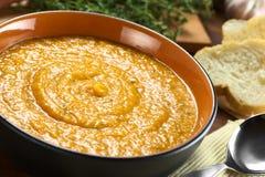 Σούπα κρέμας γλυκών πατατών Στοκ Εικόνες