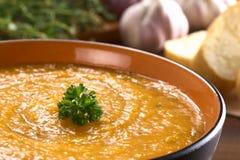 Σούπα κρέμας γλυκών πατατών Στοκ Φωτογραφίες