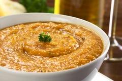 Σούπα κρέμας γλυκών πατατών Στοκ εικόνα με δικαίωμα ελεύθερης χρήσης