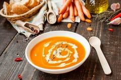 Σούπα κρέμας καρότων Στοκ εικόνες με δικαίωμα ελεύθερης χρήσης