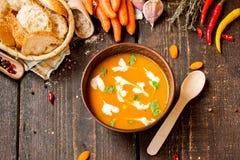 Σούπα κρέμας καρότων Στοκ εικόνα με δικαίωμα ελεύθερης χρήσης