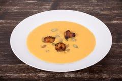 Σούπα κρέμας κολοκύθας της Apple Στοκ Εικόνες