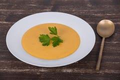 Σούπα κρέμας κολοκύθας της Apple Στοκ Φωτογραφία