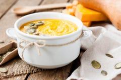 Σούπα κρέμας κολοκύθας Στοκ εικόνα με δικαίωμα ελεύθερης χρήσης