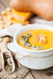 Σούπα κρέμας κολοκύθας Στοκ εικόνες με δικαίωμα ελεύθερης χρήσης