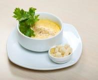 Σούπα κρέμας κρεμμυδιών στοκ φωτογραφίες
