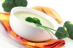 σούπα κρέμας μπρόκολου στοκ εικόνα