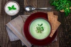 σούπα κρέμας μπρόκολου στοκ εικόνες