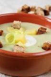 Σούπα κρέμας πράσων και πατατών Στοκ εικόνες με δικαίωμα ελεύθερης χρήσης
