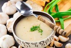 Σούπα κρέμας σκόρδου Στοκ εικόνες με δικαίωμα ελεύθερης χρήσης
