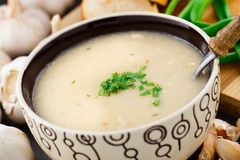 Σούπα κρέμας σκόρδου Στοκ φωτογραφία με δικαίωμα ελεύθερης χρήσης