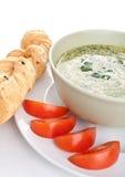 Σούπα κρέμας σπανακιού Στοκ φωτογραφία με δικαίωμα ελεύθερης χρήσης