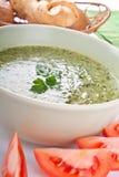 Σούπα κρέμας σπανακιού Στοκ Εικόνες
