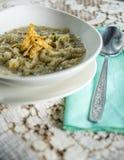 Σούπα κρεμμυδιών με croutons Στοκ φωτογραφία με δικαίωμα ελεύθερης χρήσης