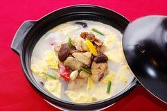 σούπα μανιταριών κρέατος Στοκ Εικόνες