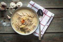 Σούπα μανιταριών με τα λαχανικά Στοκ Φωτογραφία