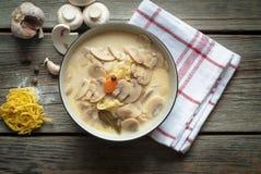 Σούπα μανιταριών με τα λαχανικά Στοκ εικόνα με δικαίωμα ελεύθερης χρήσης