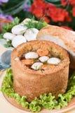 σούπα μανιταριών ψωμιού κύπ&epsil Στοκ φωτογραφία με δικαίωμα ελεύθερης χρήσης