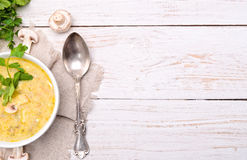 σούπα μανιταριών Στοκ εικόνες με δικαίωμα ελεύθερης χρήσης