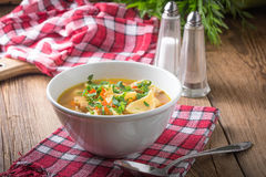 σούπα μαϊντανού μανιταριών Στοκ Φωτογραφία