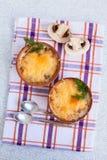 Σούπα με κρέας μανιταριών cocotte Στοκ Εικόνες