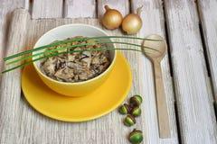 Σούπα με τα άγρια μανιτάρια Στοκ Εικόνα