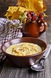 Σούπα με τα ζυμαρικά Στοκ εικόνα με δικαίωμα ελεύθερης χρήσης