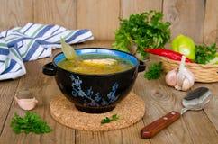 Σούπα με τους κόκκους φαγόπυρου Στοκ εικόνα με δικαίωμα ελεύθερης χρήσης