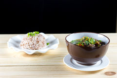 Σούπα με το βόειο κρέας, τα λαχανικά και το ζωμό κόκκαλων ως βάση Στοκ Εικόνες