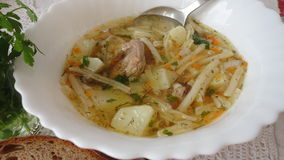 Σούπα με το κουτάλι Στοκ φωτογραφία με δικαίωμα ελεύθερης χρήσης