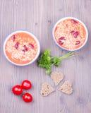 Σούπα με το ρύζι και τα φασόλια Στοκ Φωτογραφία