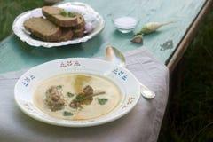 Σούπα μπιζελιών με το κρέας Στοκ φωτογραφία με δικαίωμα ελεύθερης χρήσης