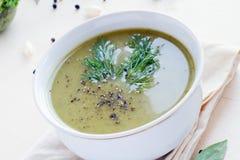 Σούπα μπρόκολου Στοκ Φωτογραφίες